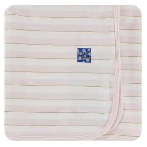KicKee Everyday Heroes Sweet Stripe Swaddling Blanket