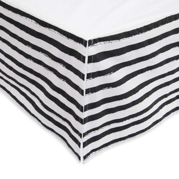 Little Unicorn Percale Crib Skirt - Ink Stripe