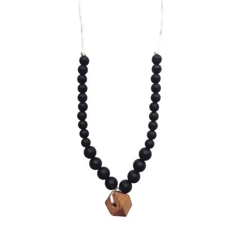 Chewable Charm The Collins - Black Teething Necklace
