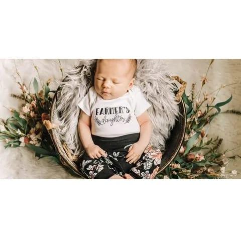 Jena Bug Infant Long-Sleeve Bodysuit Farmer's Daughter