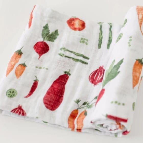 Little Unicorn Muslin Swaddle Blanket - Farmers Market