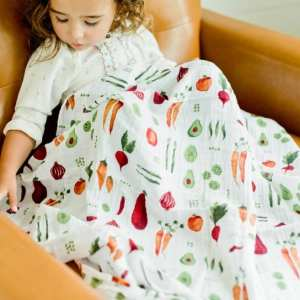 Little Unicorn Muslin Swaddle Blanket - Farmers Market