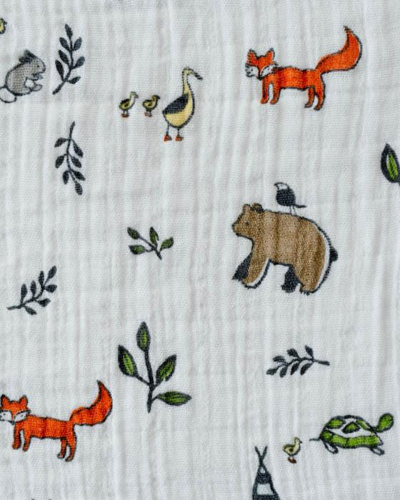 Little Unicorn Muslin Swaddle Blanket - Forest Friends