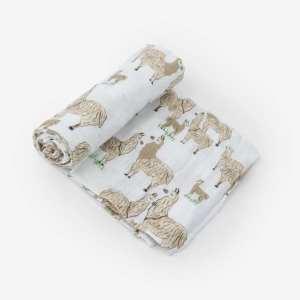 Little Unicorn Muslin Swaddle Blanket - Llama Llama