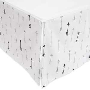 Little Unicorn Percale Crib Skirt - Arrow