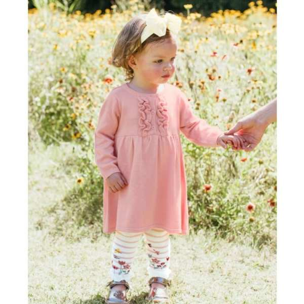 Ballet Pink & Ivory Stripe Floral