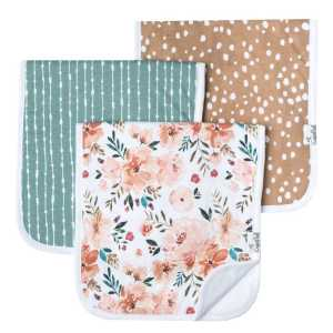 Copper Pearl Autumn Burp Cloth 3-Pack3