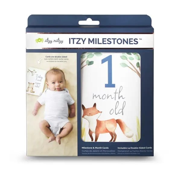 Itzy Ritzy Itzy Moments Double-Sided Milestone Cards - Woodland