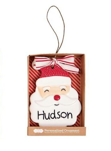 Mud Pie Santa Personalized Ornament