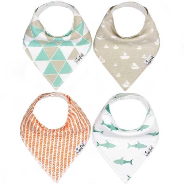 Copper Pearl Pacific Baby Bandana Bib Set 4-pack