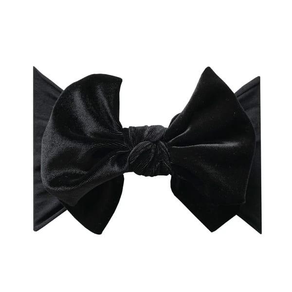 Baby Bling Fab-Bow-Lous VELVET - Black