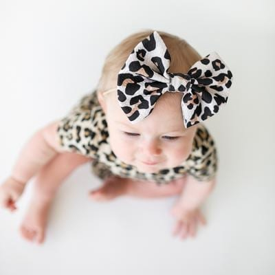 Posh Peanut Lana Leopard Lulu Nylon Headband