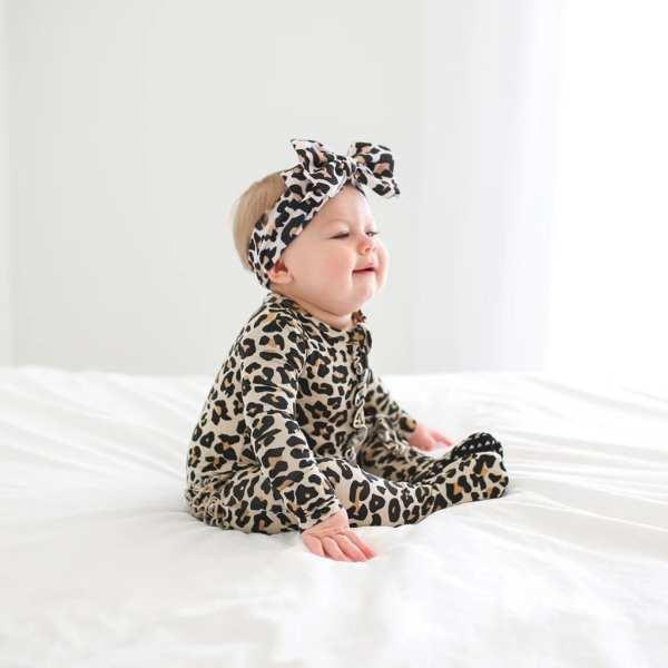 Posh Peanut Lana Leopard Lulu Headwrap