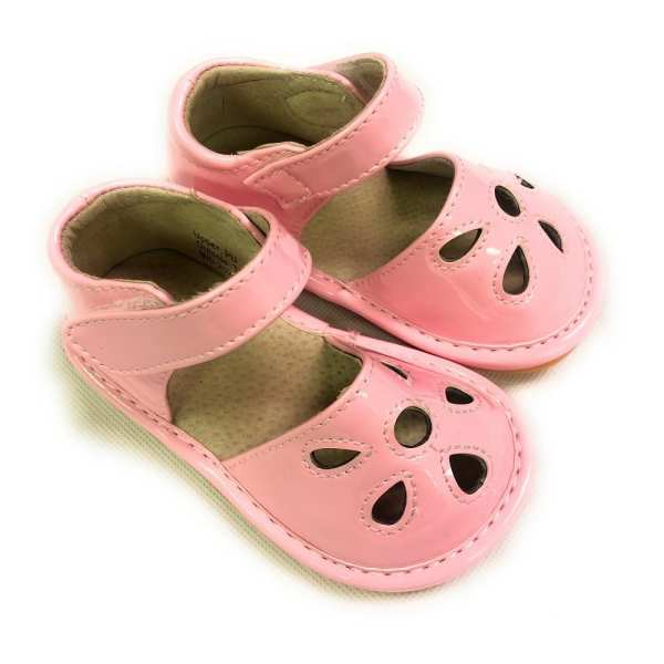 Squeaky Leather Shoes - Petal Pink