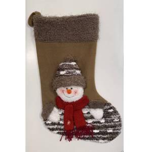 Christmas Fleece Stocking - Snowman