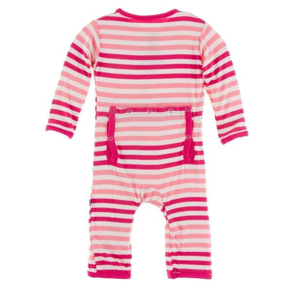 KicKee Forest Fruit Stripe Coverall with Zipper