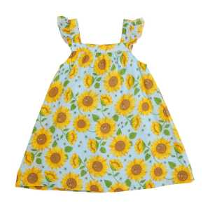Angel Dear Sunflowers Whispering Blue Sundress