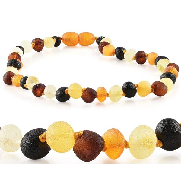 Baltic Amber Aromatherapy Necklace - Raw Multi Baltic Amber 10-11