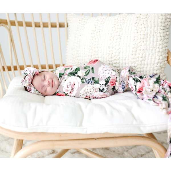 Posh Peanut Cassie Swaddle and Headwrap Set
