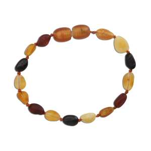 Cherished Moments Amber Teething Bracelet - Multi Unpolished Raw