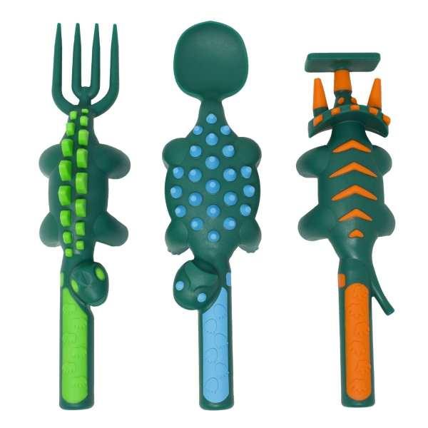 Constructive Eating - Set of 3 Dino Utensils