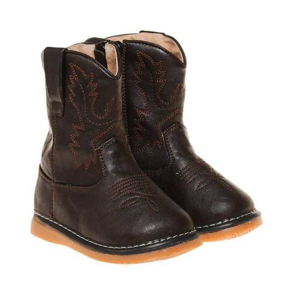Squeaky Cowboy Boots - Brown Leather