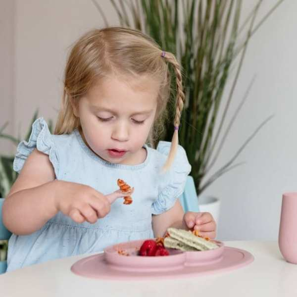 ezpz Mini Feeding Set - Blush