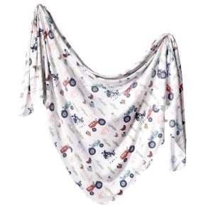 Copper Pearl Jo Knit Swaddle Blanket