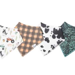 Copper Pearl Jo Bandana Bib 4-Pack