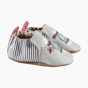 Robeez Soft Soles - Helicopter Soft Grey Leather