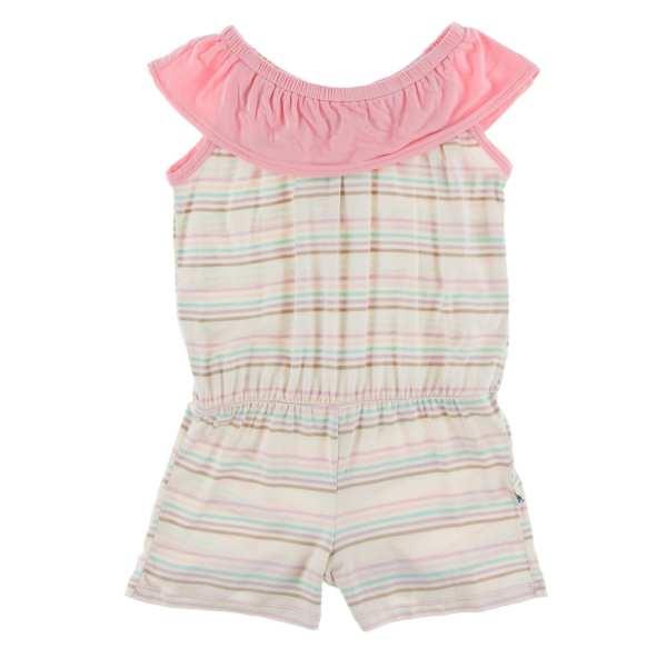 KicKee Pants Cupcake Stripe Summer Romper