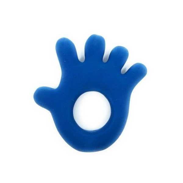 Lanco Natural Rubber Teether Hand Blue