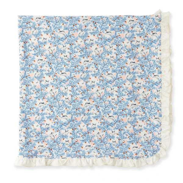 Magnetic Somebunny Floral Swaddle Blanket