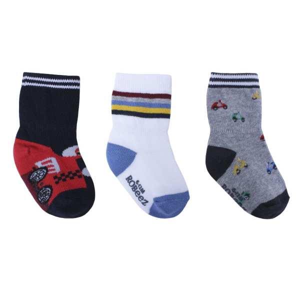 Robeez Socks Racer Red 3-Pack