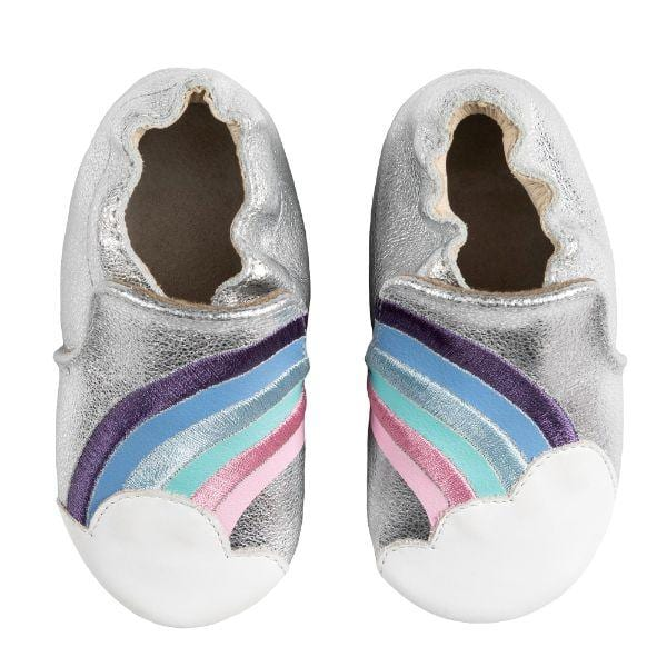 Robeez Soft Soles - Hope Silver Leather