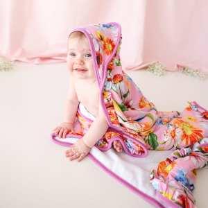 Posh Peanut Kaileigh Ruffled Hooded Towel