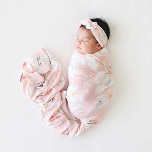 Posh Peanut Mary Swaddle and Headwrap Set