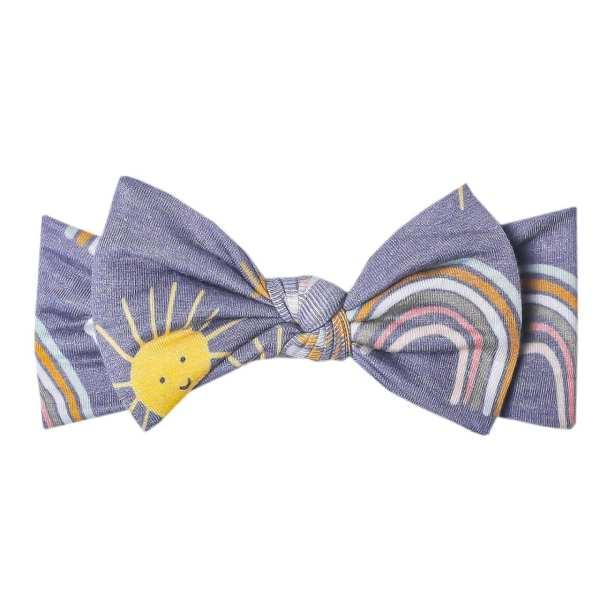 Copper Pearl Hope Knit Headband Bow