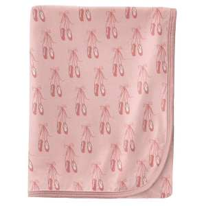 KicKee Pants Baby Rose Ballet Swaddle Blanket