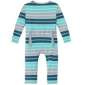 KicKee Pants Sport Stripe Coverall with Zipper