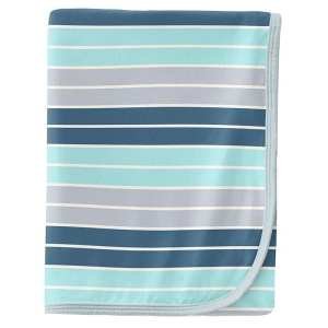 KicKee Pants Sport Stripe Swaddle Blanket