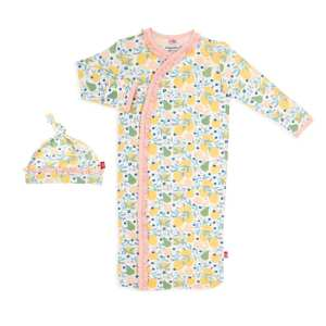 Magnetic Me Citrus Bloom Magnetic Sack Gown and Hat Set