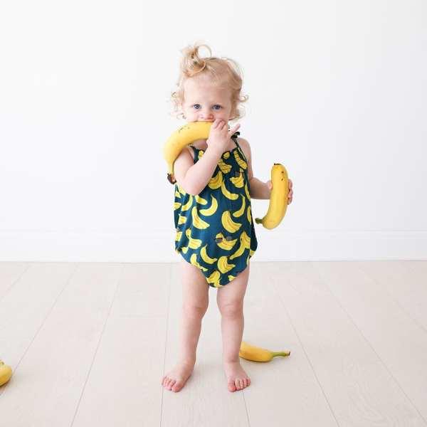 Posh Peanut Bananas Spaghetti Strap Bubble Romper