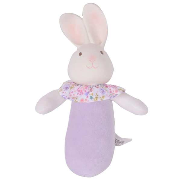 Tikiri Toys Havah the Bunny - Soft Squeaker Toy with Organic Natural Rubber Head