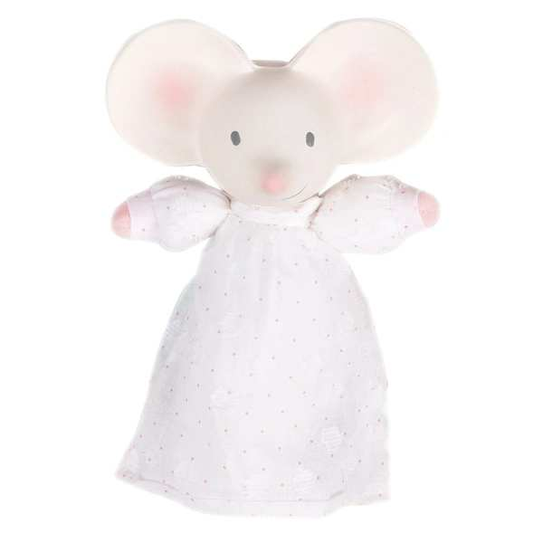 Tikiri Toys Meiya the Mouse - Soft Squeaker With Natural Rubber Head