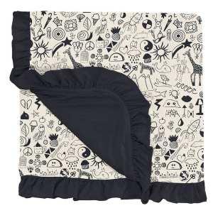 KicKee Pants Doodles Ruffle Toddler Blanket
