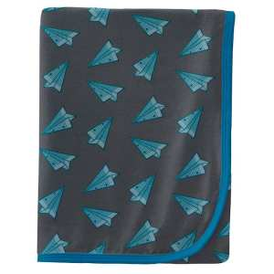 KicKee Pants Lined Paper Airplanes Swaddle Blanket