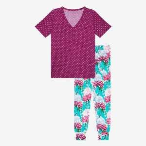 Posh Peanut Eloise Women's Short Sleeve Loungewear
