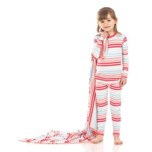 KicKee Pants Cotton Candy Stripe Long Sleeve Pajama Set