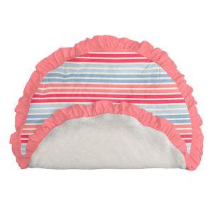 KicKee Pants Cotton Candy Stripe Sherpa-Lined Ruffle Fluffle Playmat
